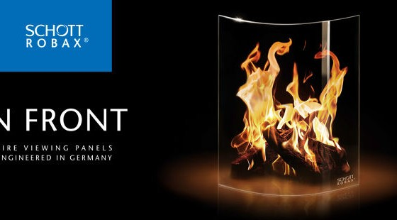 ceramic glass for fireplaces and stoves