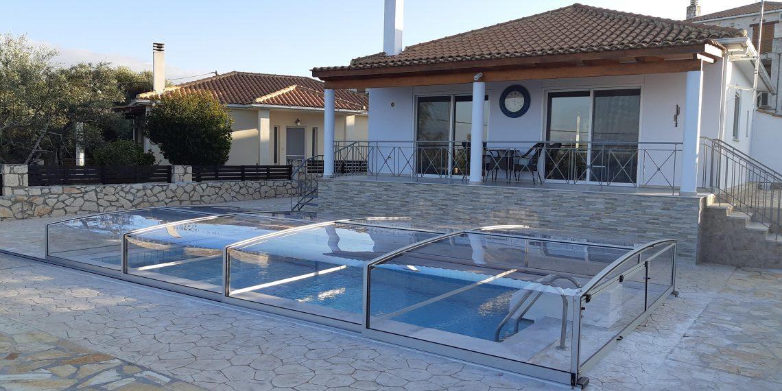 rapsomanikis glass - κάλυμμα πισίνας